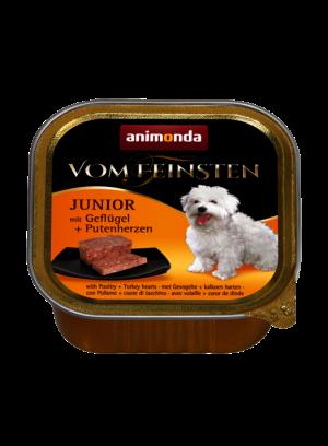 שימור וום פיינסטן לגורי כלבים בטעם לבבות עוף והודו