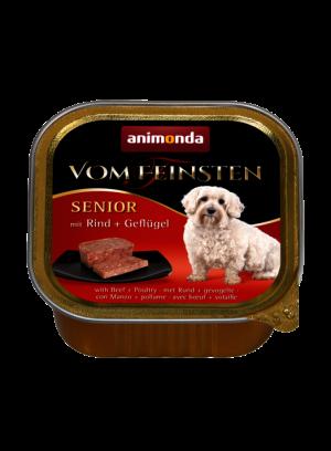 שימור וום פיינסטן לכלב מבוגר בטעם בקר ועופות