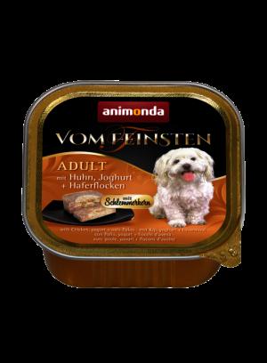 שימור וום פיינסטן לכלב בטעם ליבת גורמה עם עוף יוגורט ופתיתי שיבולת שועל