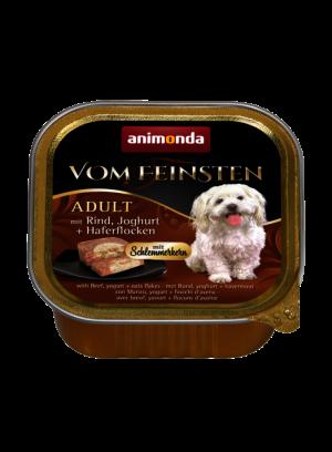 שימור וום פיינסטן לכלב בטעם ליבת גורמה עם בקר יוגורט ופתיתי שיבולת שועל