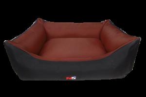 פטקס מיטה מפנקת לכלב בצבע חום ושחור מבד הדוחה מים 60X50X20