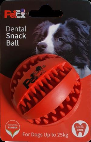 כדור משחק דנטלי לכלב עשוי גומי טבעי מובחר דגם ER001