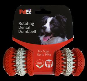 משחק לעיסה דנטלי לכלב בצורת משקולת בגודל M דגם ER013
