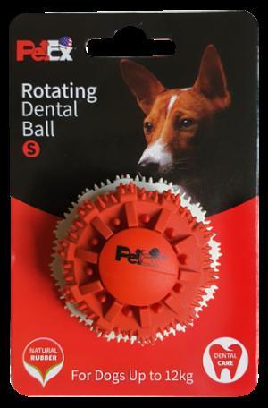 כדור דנטלי גודל S לכלב בשילוב זיזי משחק דגם ER004