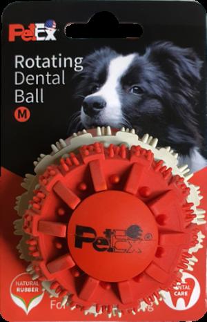 כדור דנטלי גודל M לכלב בשילוב זיזי משחק דגם ER005