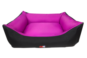 פטקס מיטה מפנקת לכלב בצבע ורוד מבד הדוחה מים 110X85X27 ס״מ