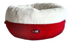 """SPUN SUGAR מיטת פרווה יוקרתית לחתול ולכלב בצבע אדום בגודל 50X50 ס""""מ"""