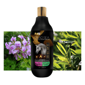 שמפו לסוסים – שמן עץ התה ותמצית ציטרונלה, דוחה חרקים מעופפים וקרציות עם מינרלים מים המלח