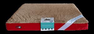 """פטקס מזרן אורתופדי לכלב, אנטי בקטריאלי בצבע אדום חום 118X70X10 ס""""מ"""