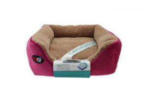 """פטקס – מיטה אורטופדית לכלב בצבע ורוד במידה 40x40x16 ס""""מ"""