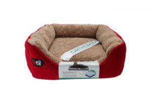 """פטקס – מיטה אורטופדית לכלב בצבע אדום במידה 40x40x16 ס""""מ"""