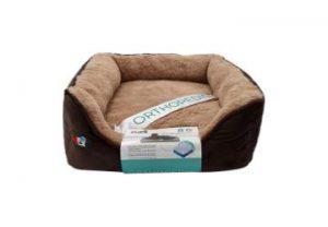 """פטקס – מיטה אורטופדית לכלב בצבע חום במידה 40x40x16 ס""""מ"""