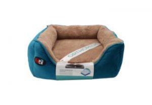 """פטקס – מיטה אורטופדית לכלב בצבע כחול במידה 40x40x16 ס""""מ"""